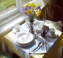 Dining in the Garden cottage